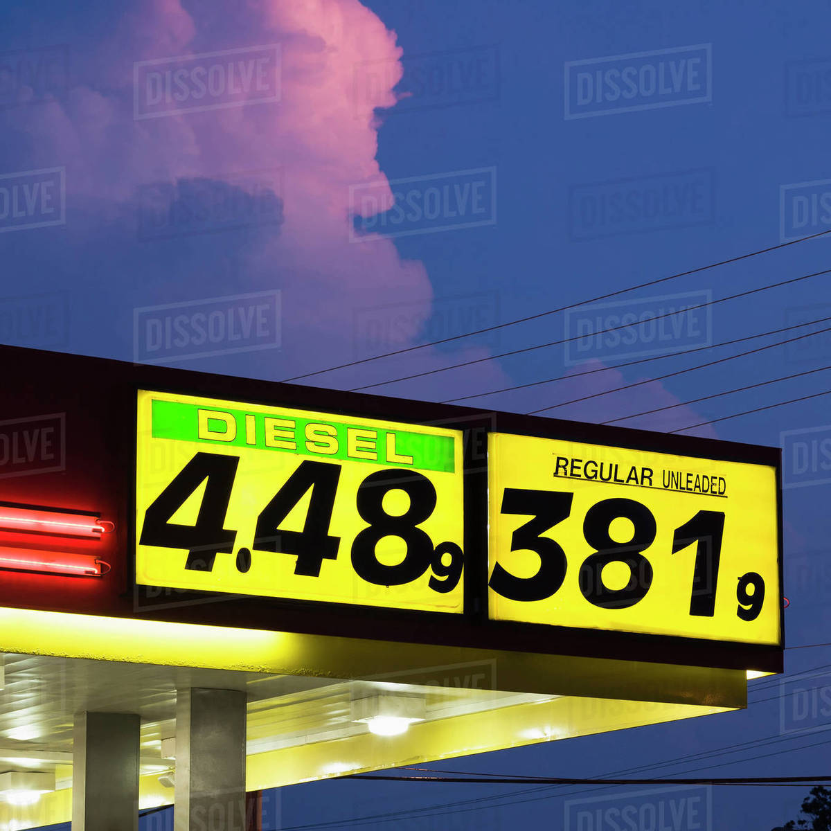 Gas Station Prices >> A Gas Station Displaying High Gas Prices In America Stock Photo