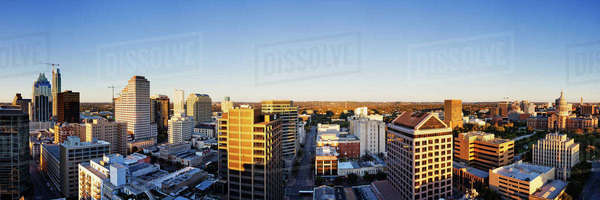 Panoramic City Skyline Royalty-free stock photo