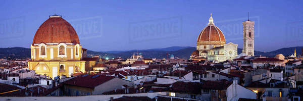 Churchs of San Lorenzo and Santa Maria del Fiore Royalty-free stock photo