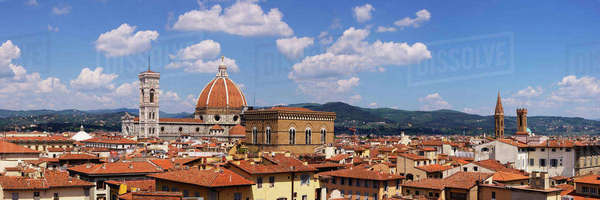 Florence Skyline and Duomo Santa Maria del Fiore Royalty-free stock photo