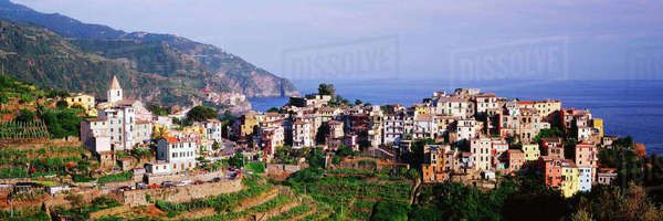Cinque Terra town of Corniglia Royalty-free stock photo