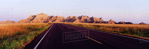 Road in Badlands National Park Royalty-free stock photo