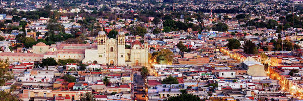 Cityscape of Oaxaca Royalty-free stock photo
