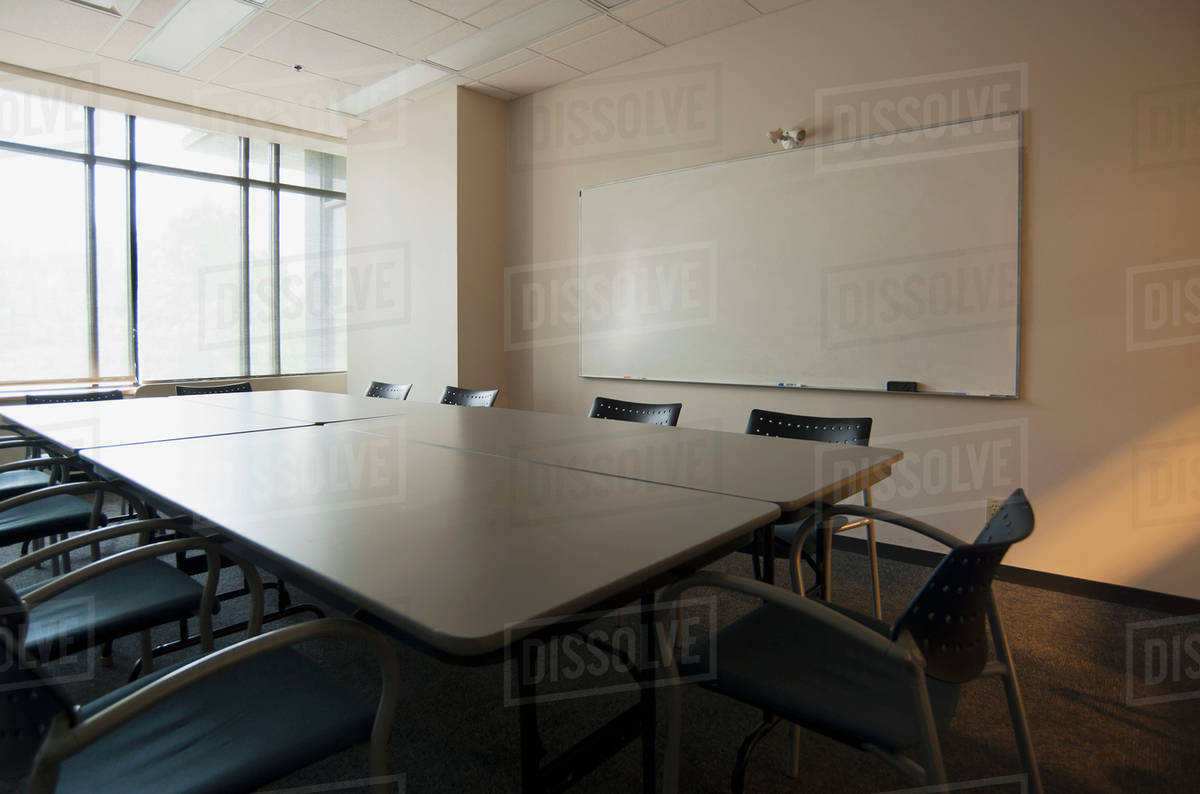 Empty Conference Room With Whiteboard Stock Photo Dissolve - Whiteboard conference table
