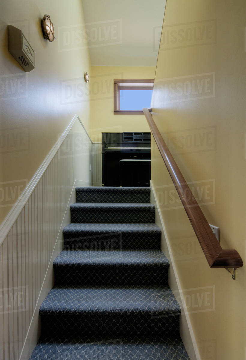 Carpeted Stairs And Banister In House D145 66 209