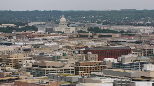 Zooming in shot of the United States Capitol building Rights-managed stock video