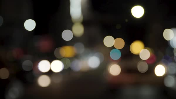 Out of focus shot of blurred city lights of Tokyo at night Royalty-free stock video