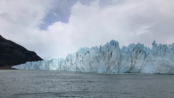 Perito Moreno Glacier from the water Royalty-free stock video
