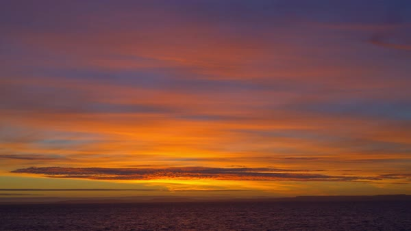Patagonian sunset over the sea Royalty-free stock video