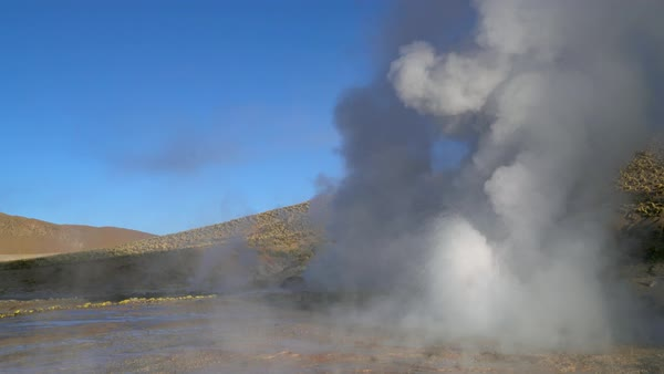 Tatio erupting Geyser Royalty-free stock video