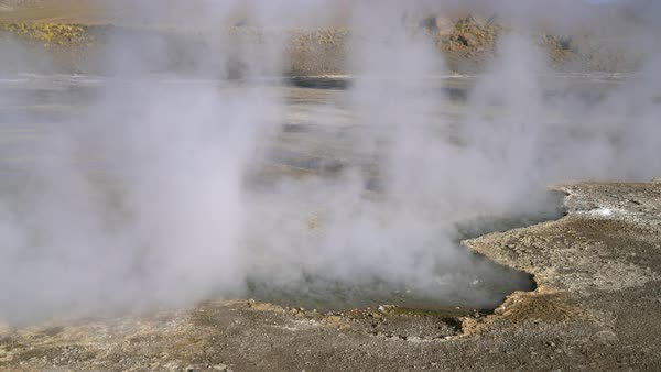 Steaming Tatio Hot Springs Royalty-free stock video