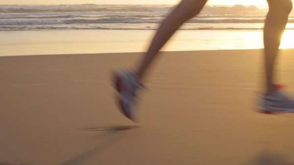 Woman running , close-up of feet Royalty-free stock video