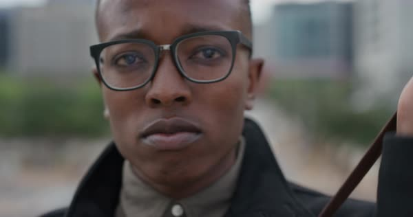 0ae55a68888f Close up portrait successful black man student looking confident wearing  glasses independent black male entrepreneur Royalty
