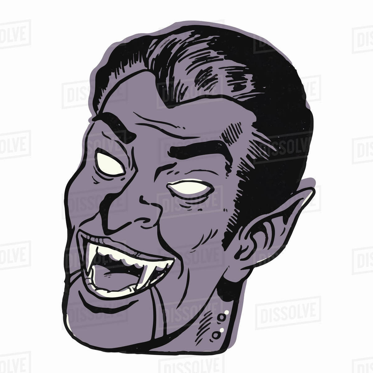 Illustration of scary vampire against white background Royalty-free stock photo