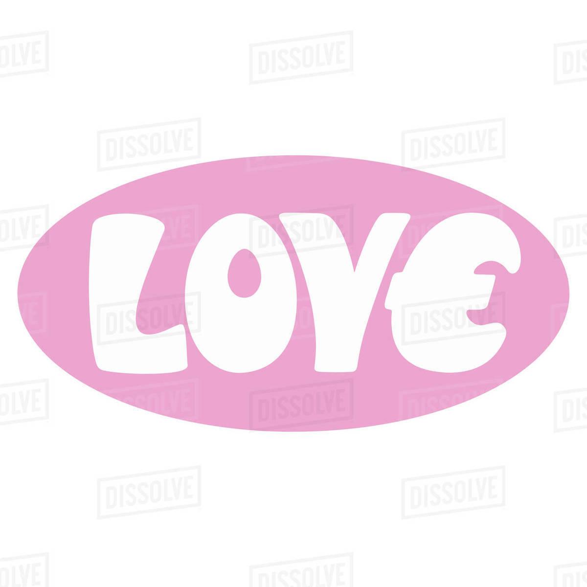 Illustration of love logo isolated on white background Royalty-free stock photo