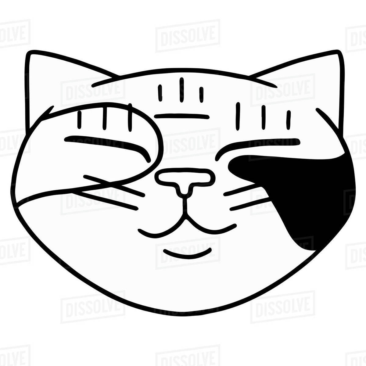 Illustration of a cat against white background Royalty-free stock photo