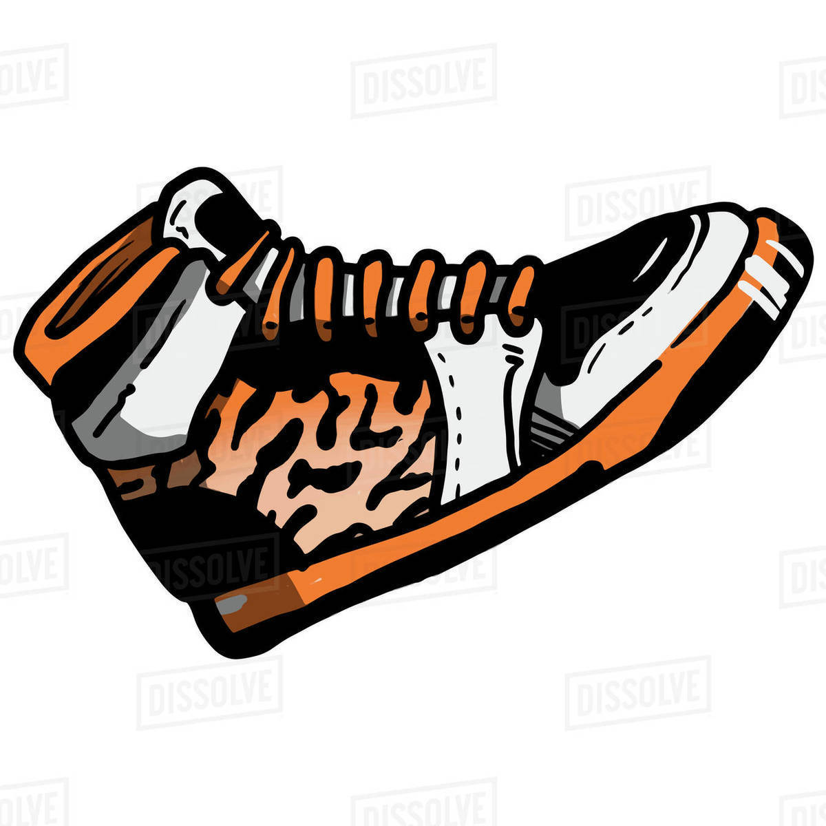 Illustration of sneakers isolated on white background Royalty-free stock photo