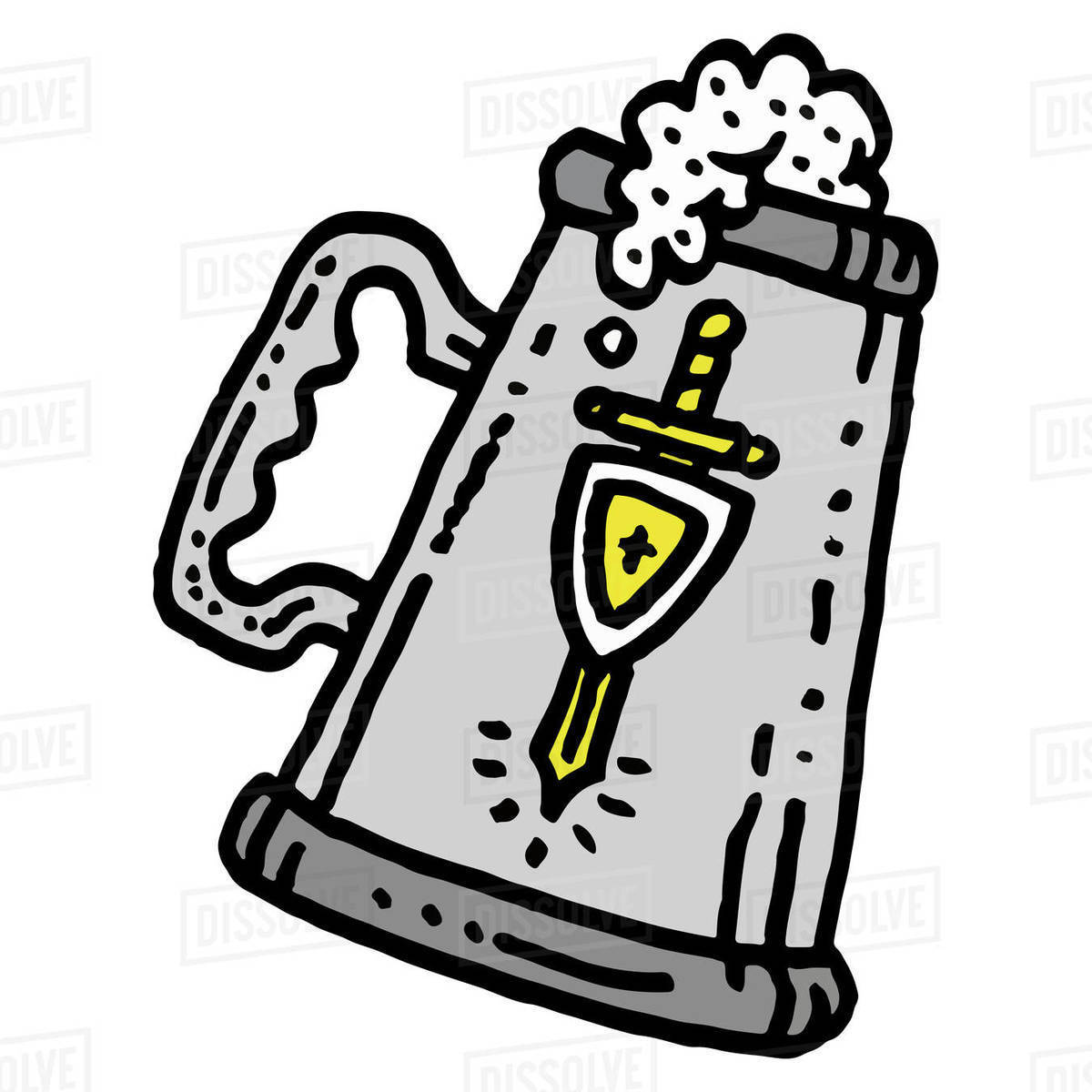 Illustration of flagon isolated on white background Royalty-free stock photo