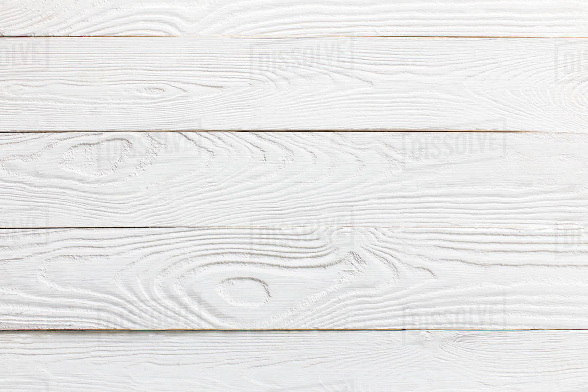 Horizontal View Of White Wooden Tabletop D2115 160 089