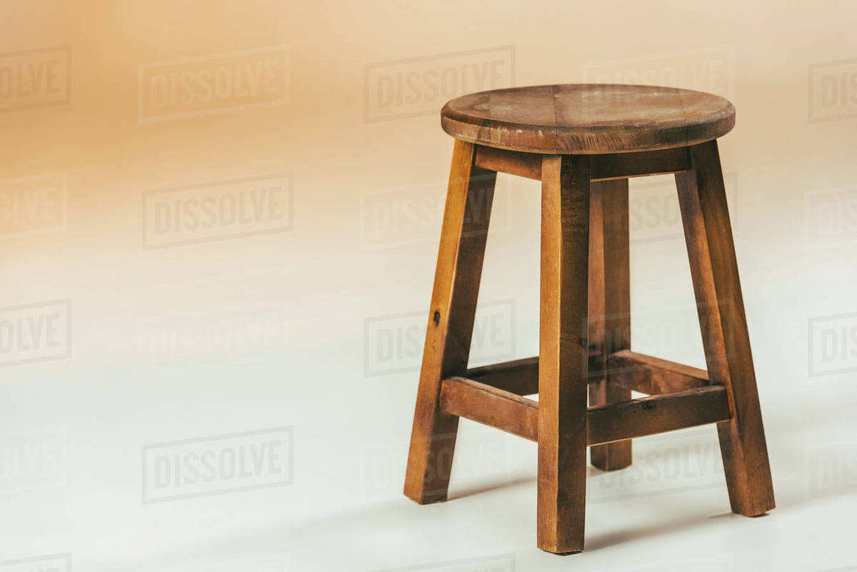 Close Up View Of Old Fashioned Wooden Chair Stock Photo