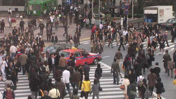 Busy City Street in Tokyo, Japan Royalty-free stock video