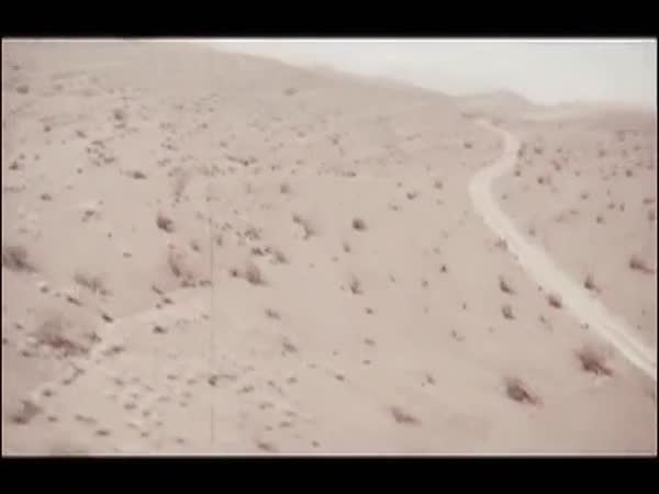 Tracking shot of desert Royalty-free stock video