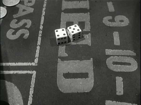 Rolling dice on craps table Royalty-free stock video