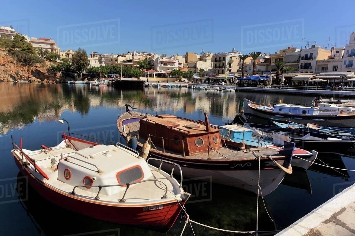 Lake Voulismeni And Port Of Agios Nikolaos Crete Island Greek D246 107 10679