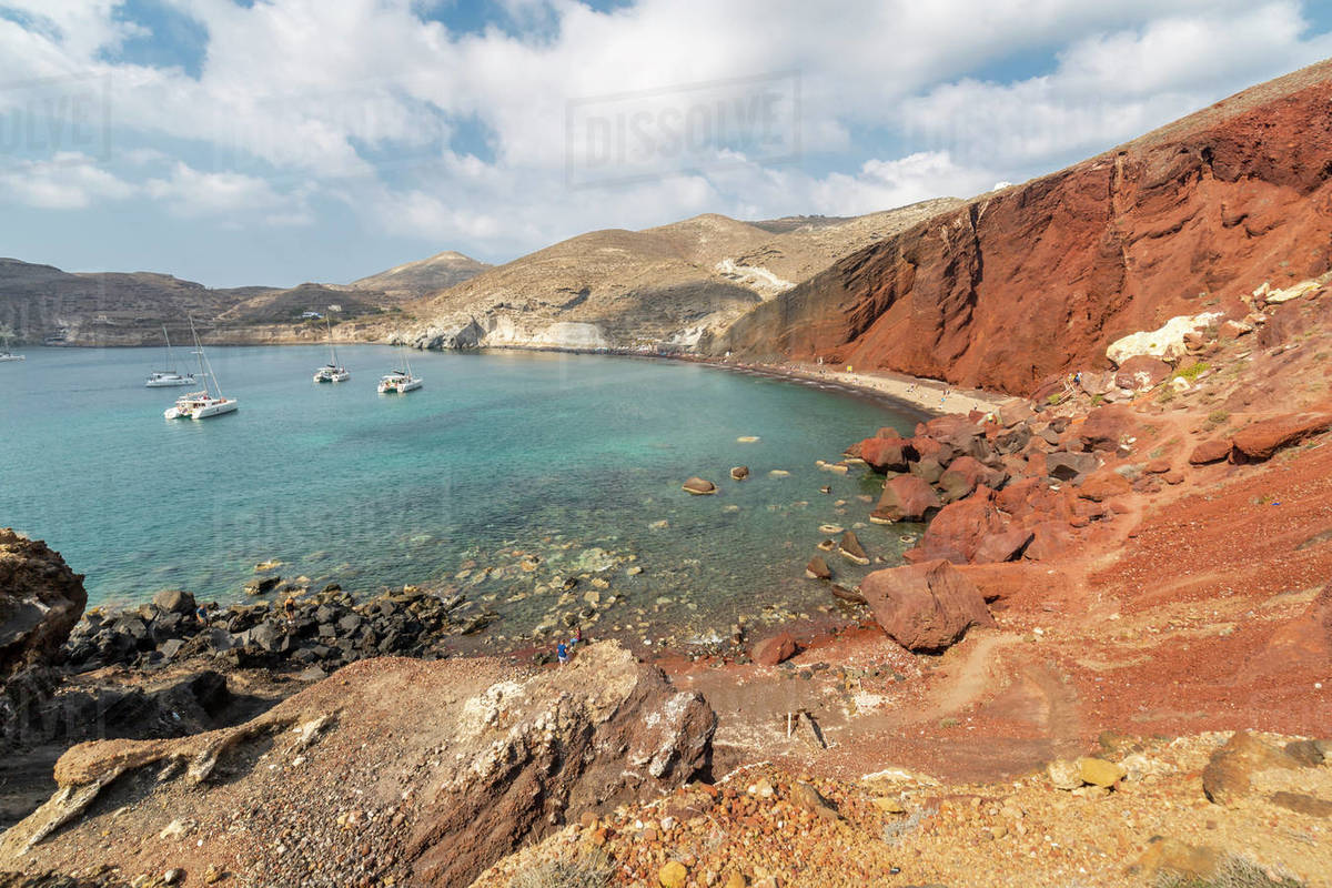 Red Beach In Akrotiri Santorini Greece Europe D246 113 045