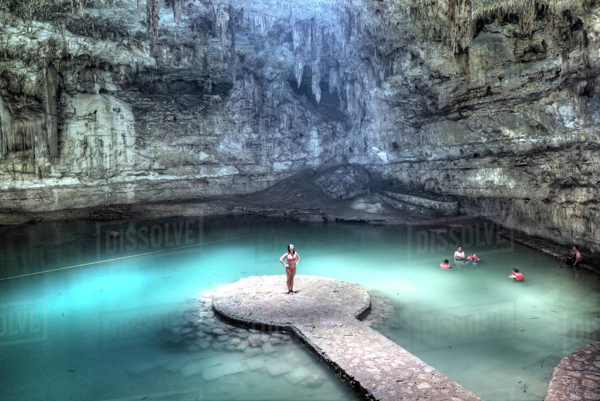 Suytun Cenote, Yucatan, Mexico, North America Royalty-free stock photo