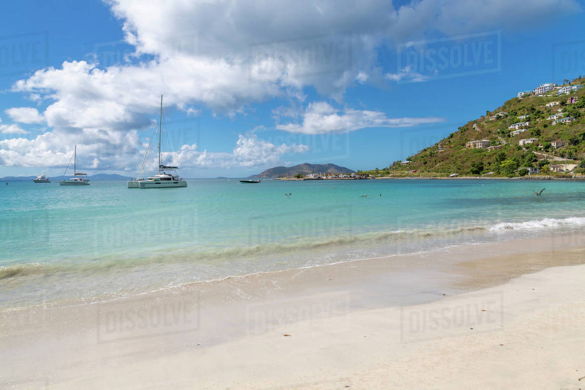 View of Cane Garden Bay Beach, Tortola, British Virgin Islands, West Indies, Caribbean, Central America Royalty-free stock photo