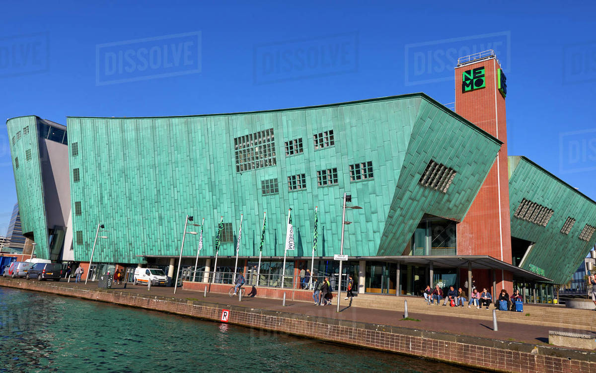 NEMO Museum, a science centre in Amsterdam, North Holland, The Netherlands, Europe Royalty-free stock photo