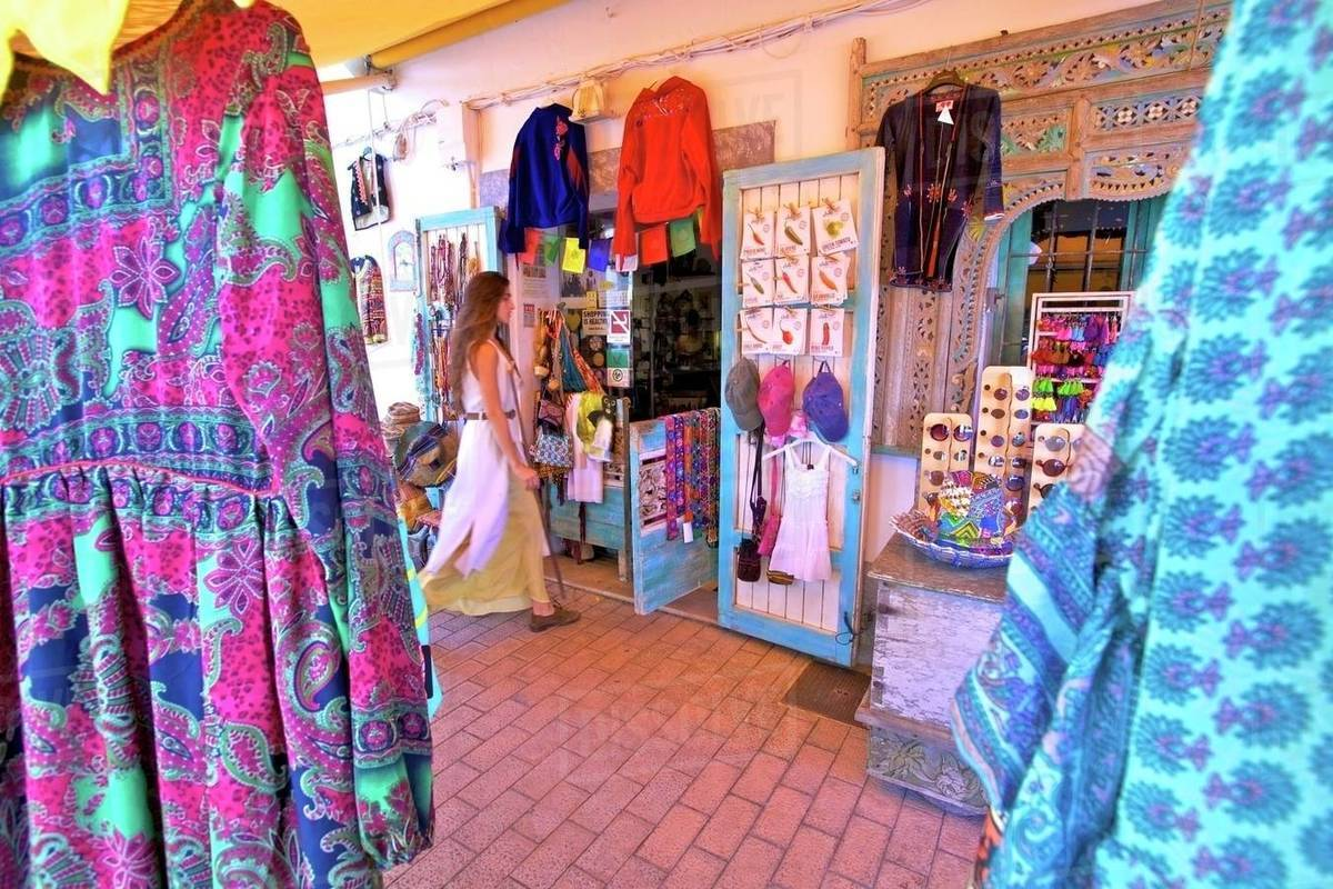Hippy Shop, Santa Gertrudis de Fruitera, Ibiza, Balearic Islands, Spain, Europe Royalty-free stock photo