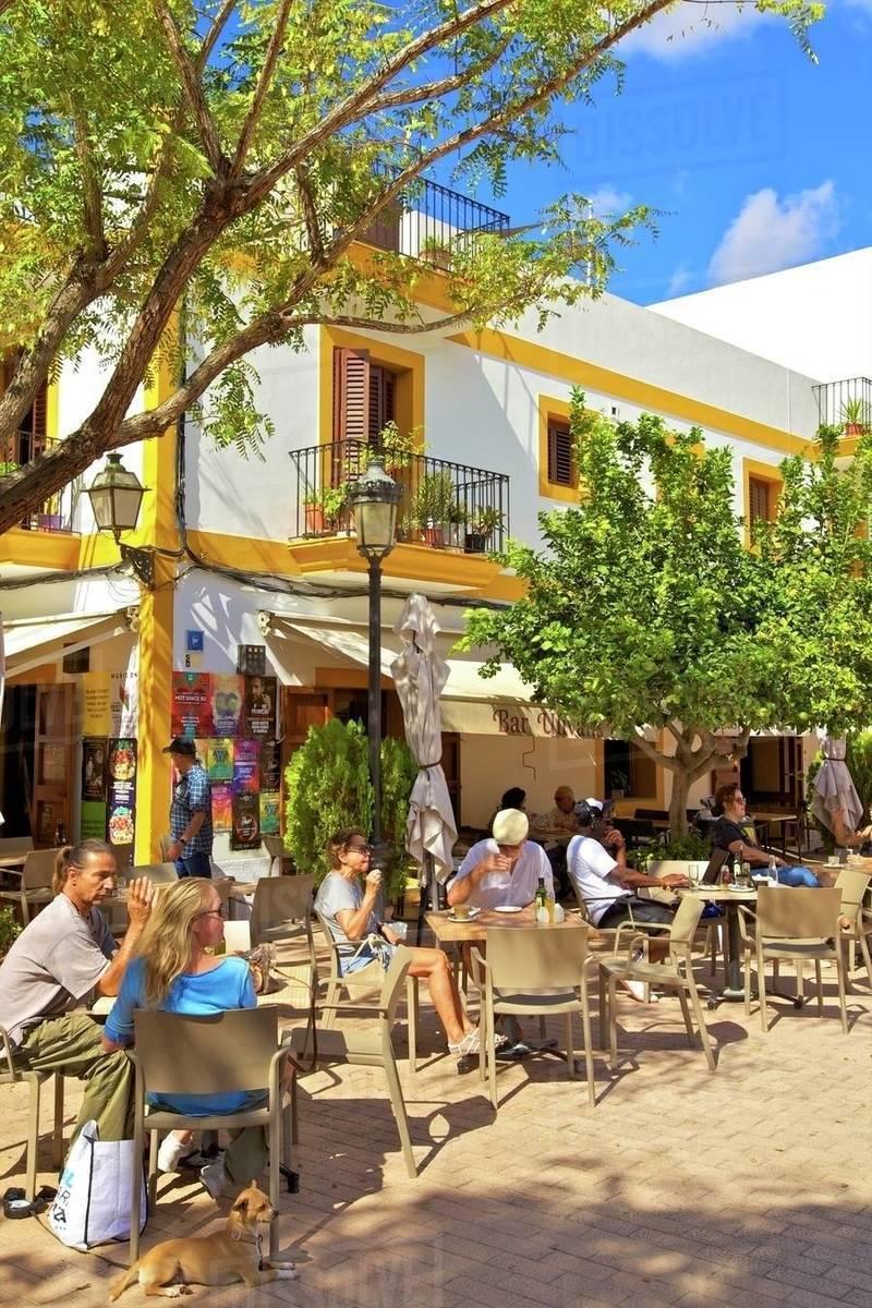 Cafe, Santa Gertrudis de Fruitera, Ibiza, Balearic Islands, Spain, Mediterranean, Europe Royalty-free stock photo
