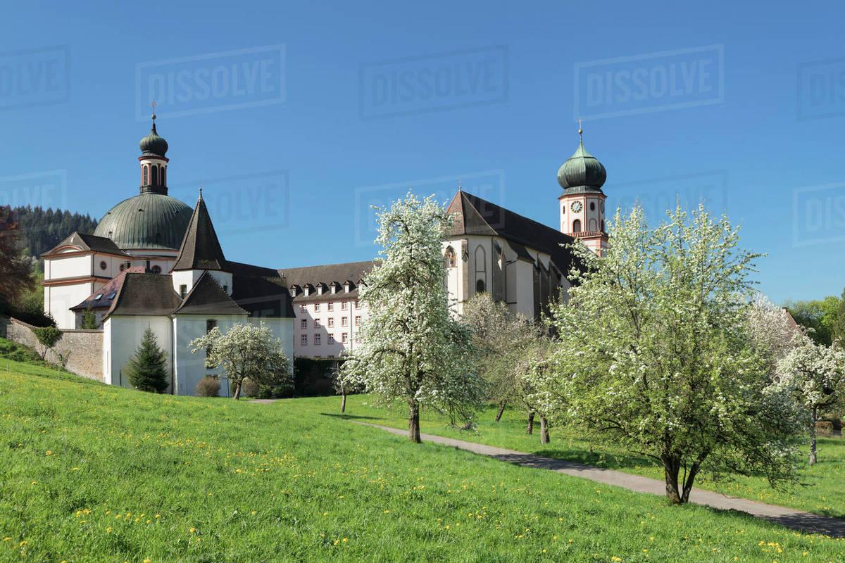 Sankt Trudpert Monastery, Muenstertal Valley, Black Forest, Baden-Wurttemberg, Germany, Europe Royalty-free stock photo