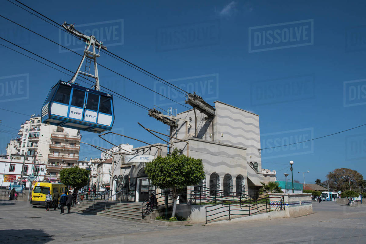 Belouizdad cable car station in Algiers, Algeria, North Africa, Africa Royalty-free stock photo