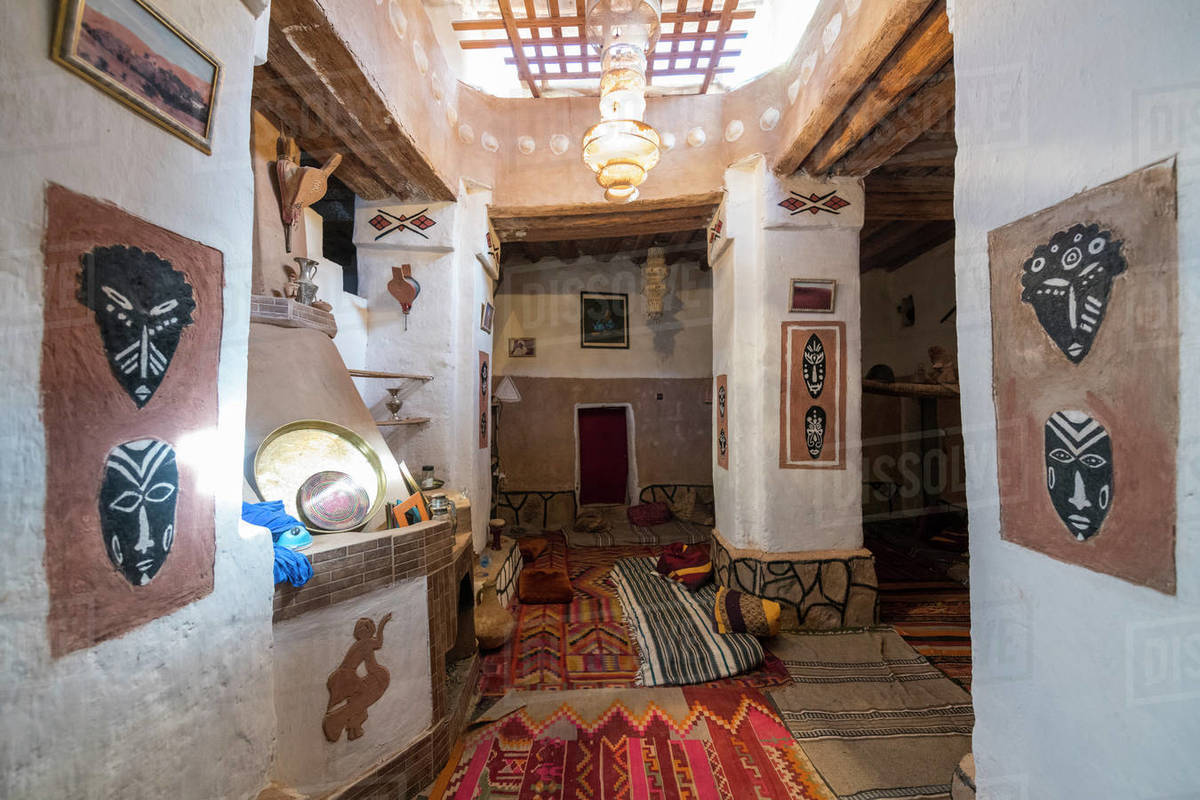 Traditional house in the old kasbah, old town, Oasis of Taghit, western Algeria, North Africa, Africa Royalty-free stock photo