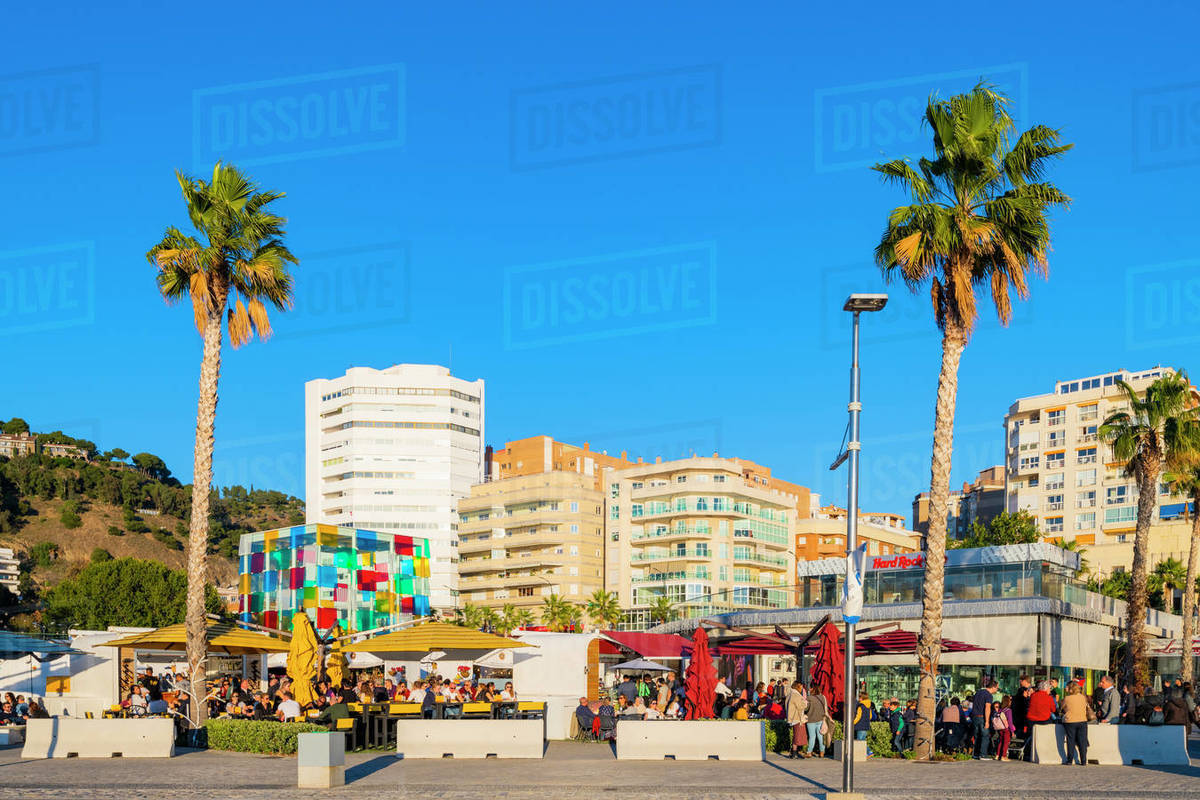 Centre Pompidou Museum, Malaga City, Costa Del Sol, Andalusia, Spain, Europe Royalty-free stock photo