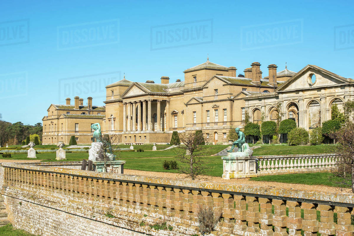 Holkham Home Stately home near the North Norfolk Coast, Norfolk, East Anglia, England, United Kingdom, Europe Royalty-free stock photo