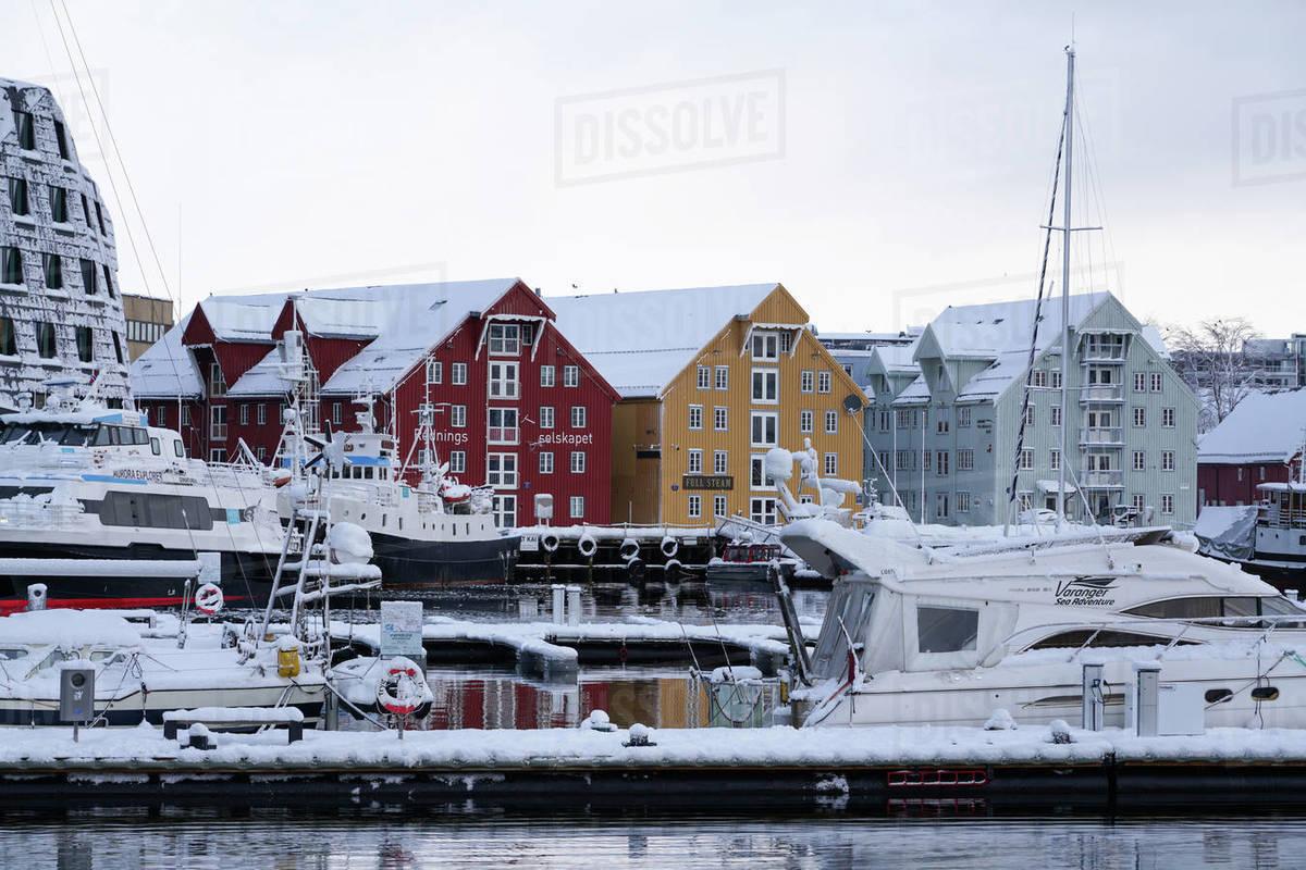 Tromso Harbour, Tromso, Troms County, Norway, Scandinavia, Europe Royalty-free stock photo