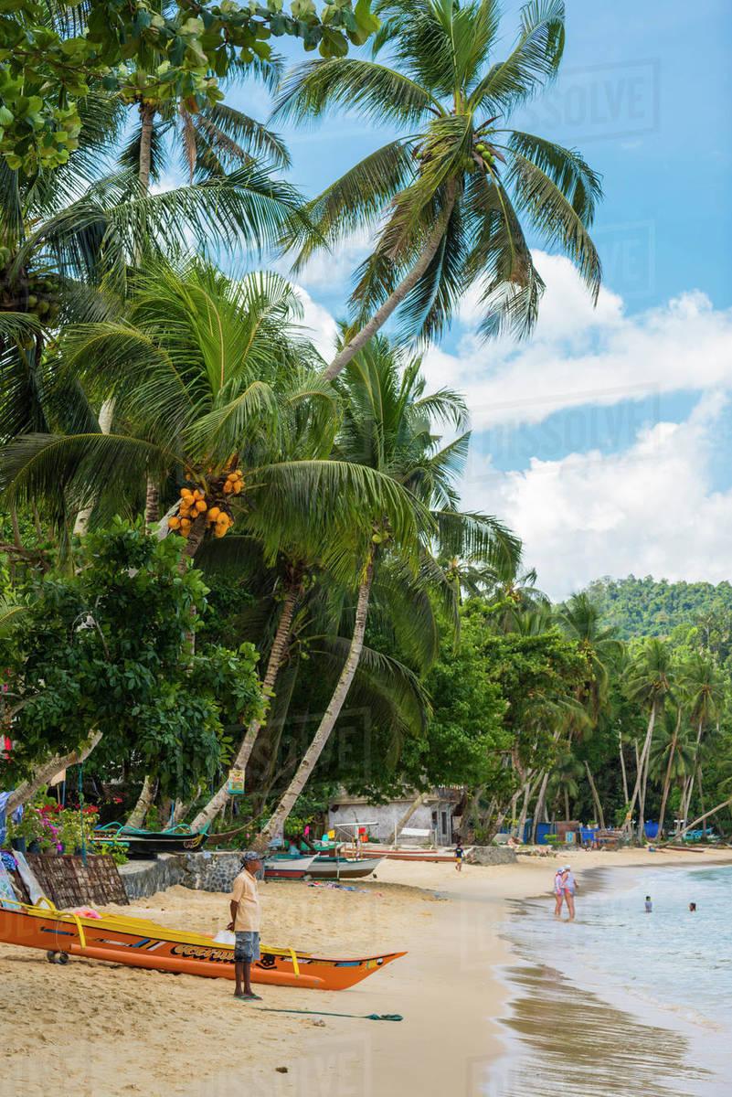 Port Barton, Palawan, Mimaropa, Philippines, Southeast Asia, Asia Royalty-free stock photo