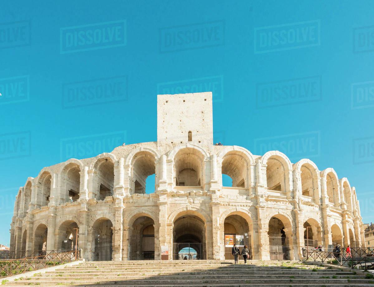 Arles Amphitheatre, UNESCO World Heritage Site, Arles, Bouches du Rhone, Provence, Provence-Alpes-Cote d'Azur, France, Europe Royalty-free stock photo
