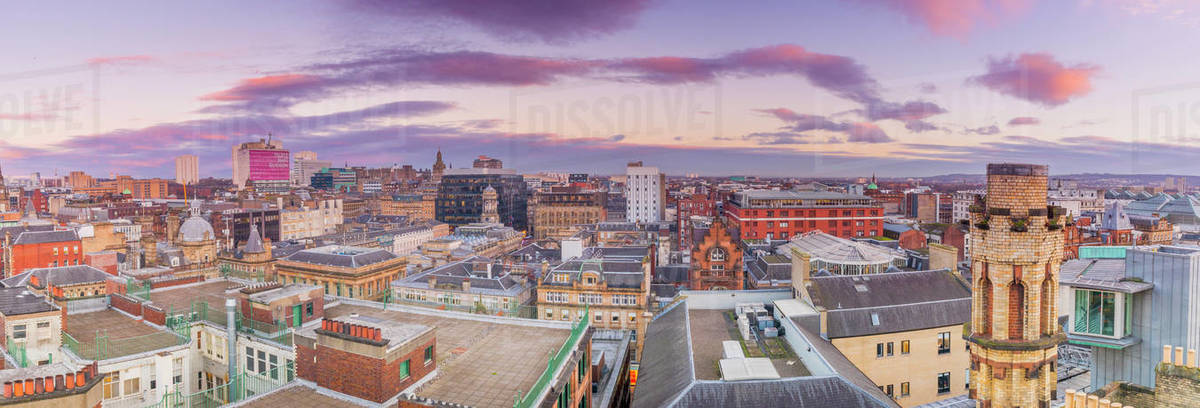 Panoramic view of Glasgow, Scotland, United Kingdom, Europe Royalty-free stock photo