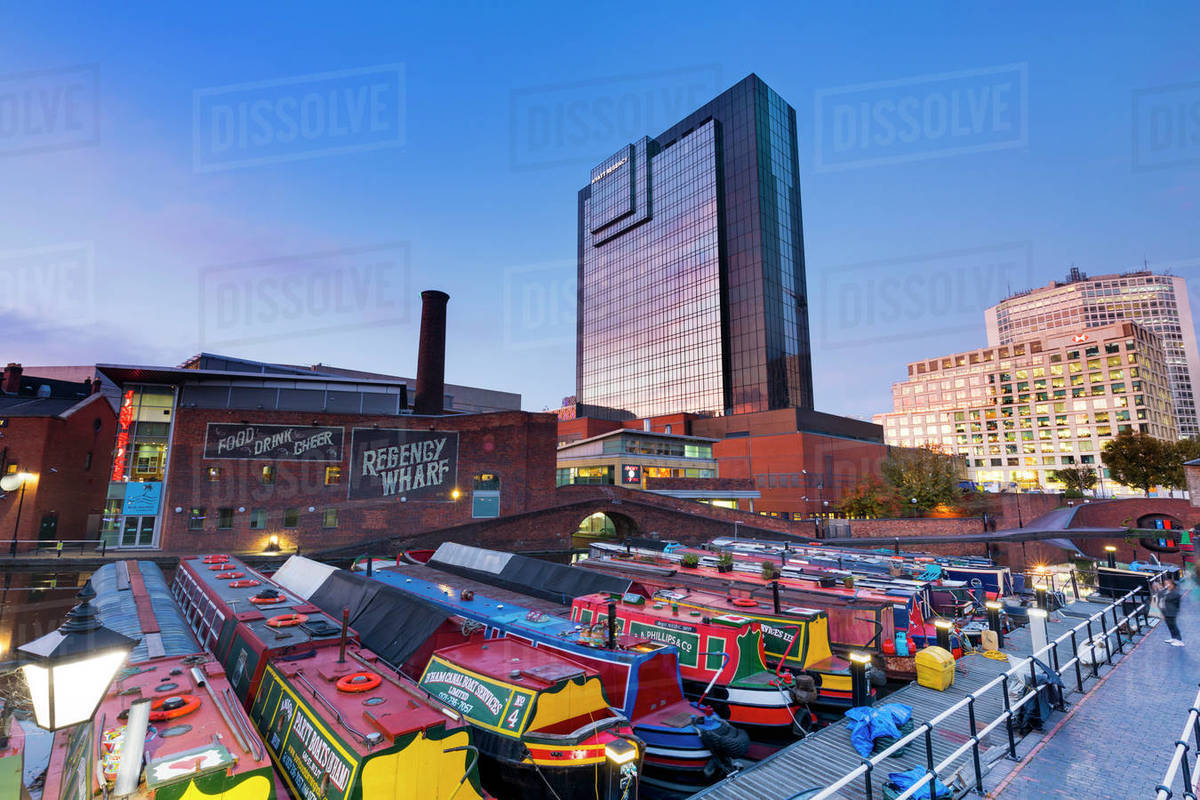 Gas Street Basin, Birmingham, England, United Kingdom, Europe Royalty-free stock photo