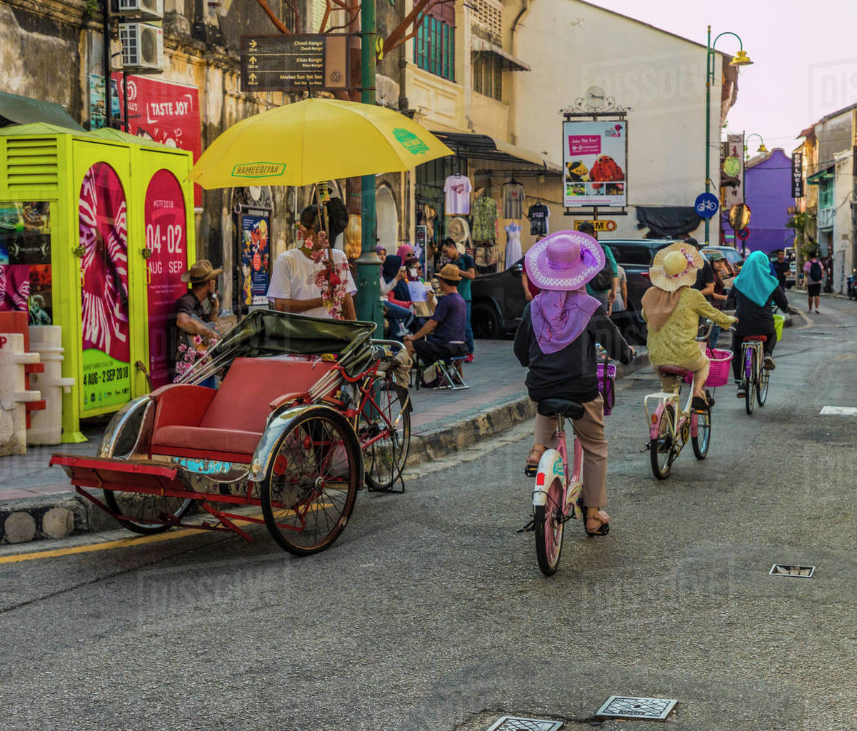 A street scene in George Town, Penang Island, Malaysia, Southeast Asia, Asia Rights-managed stock photo