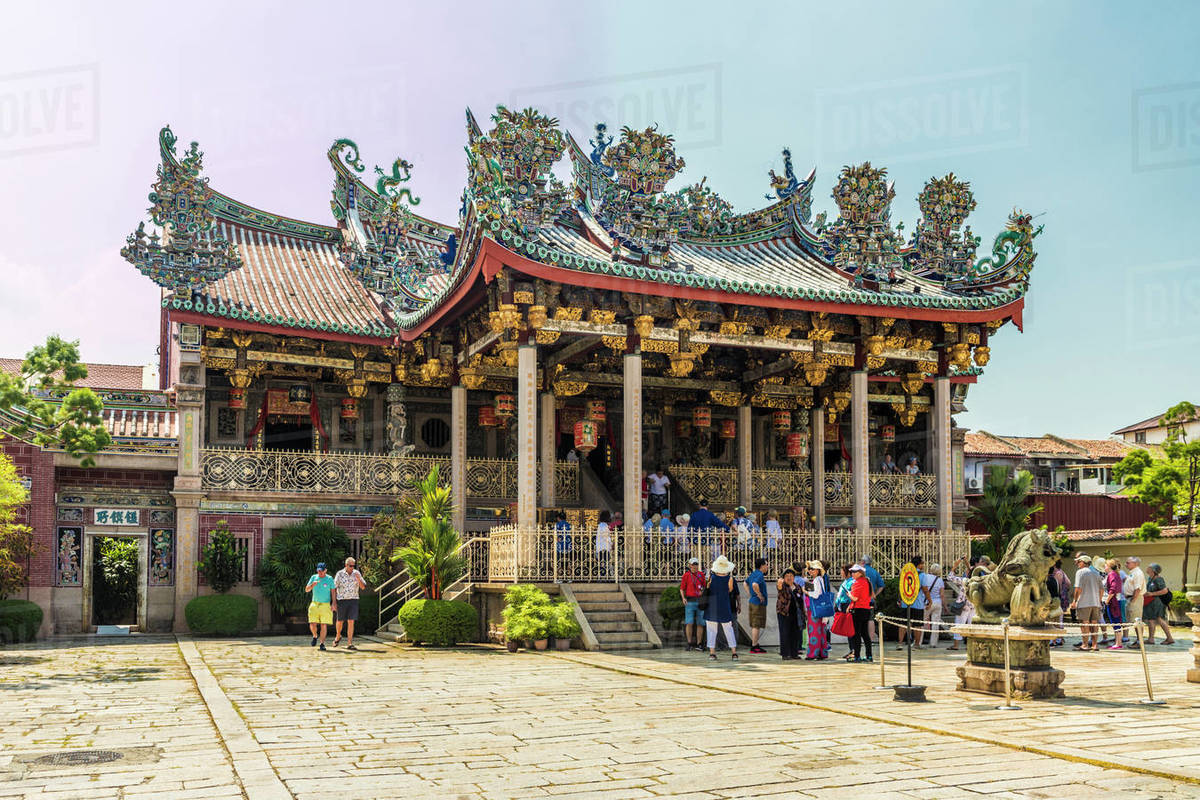 The Khoo Kongsi clan temple, George Town, UNESCO World Heritage Site, Penang Island, Malaysia, Southeast Asia, Asia Rights-managed stock photo