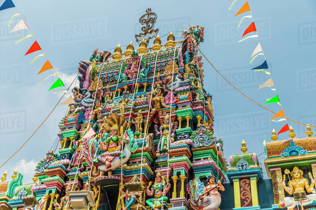 Sri Mahamariamman Temple in Little India, George Town, Penang Island, Malaysia, Southeast Asia, Asia Rights-managed stock photo