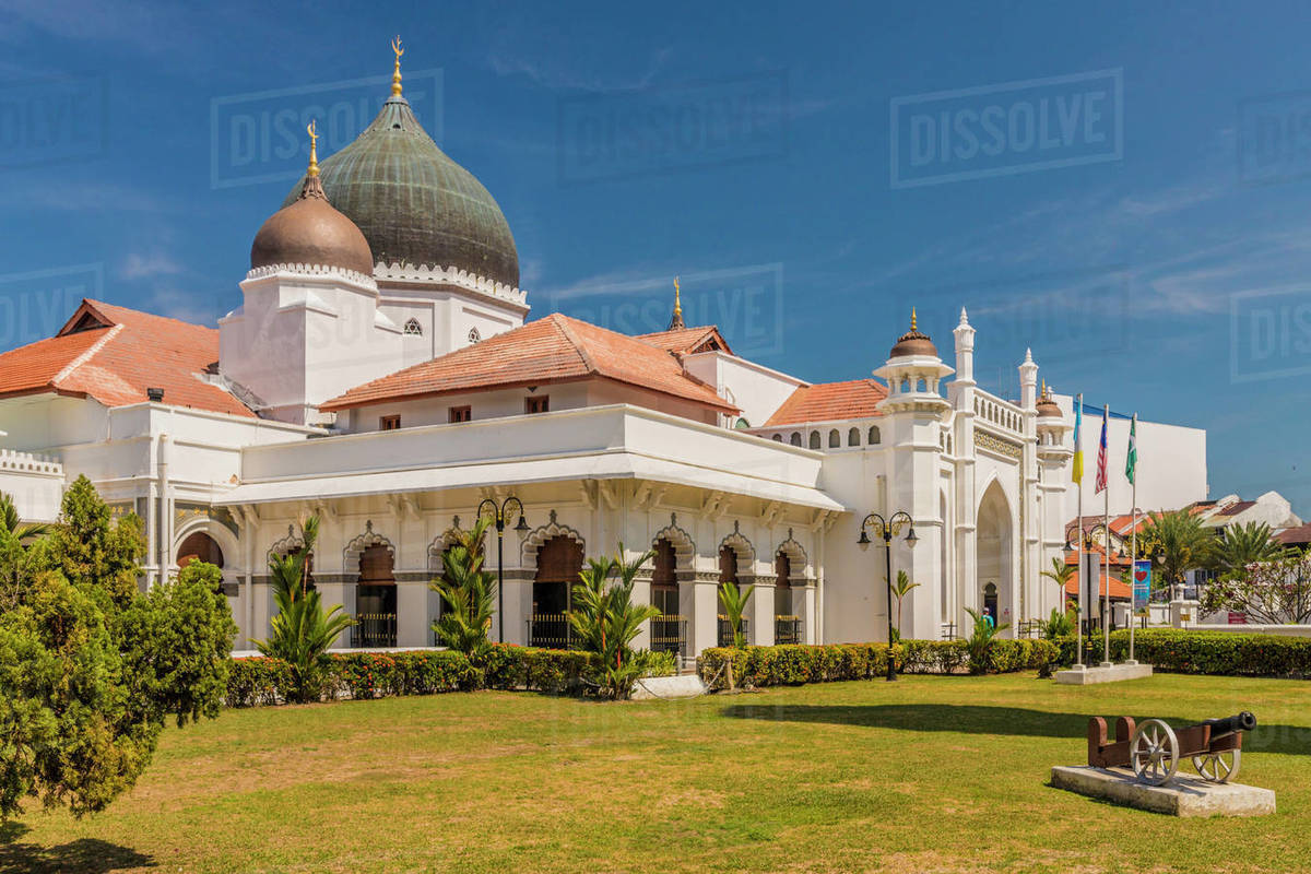 Kapitan Keling Mosque, George Town, Penang Island, Malaysia, Southeast Asia, Asia Rights-managed stock photo