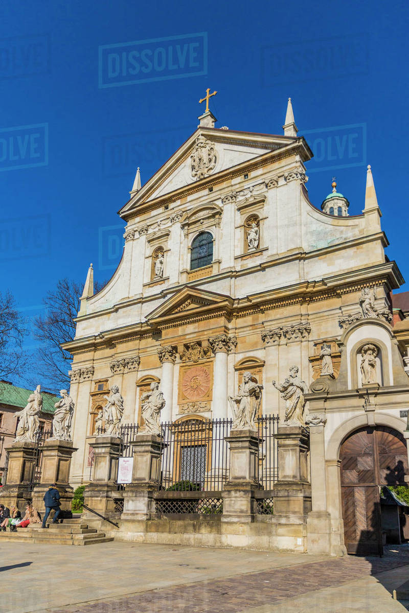 The Church of Saint Peter and Saint Paul in the medieval old town, UNESCO World Heritage Site, Krakow, Poland, Europe Rights-managed stock photo