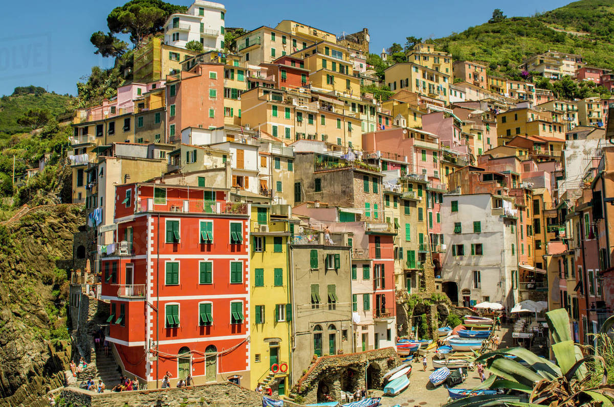 Riomaggiore, Cinque Terre, UNESCO World Heritage Site, Liguria, Italy, Europe Royalty-free stock photo